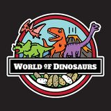 Ícone dos dinossauros isolado projeto de personagens de banda desenhada ilustração royalty free
