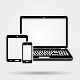 Ícone dos dispositivos ilustração royalty free