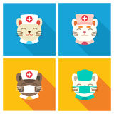 Ícone dos doutores dos gatos liso Fotos de Stock
