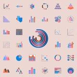 Ícone dos gráfico de setores circulares Grupo universal dos ícones das cartas & do Diagramms para a Web e o móbil ilustração stock