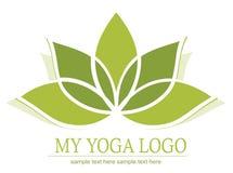 Ícone dos lótus da ioga Foto de Stock Royalty Free