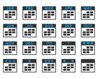Ícone dos meses de calendário Imagens de Stock