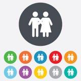 Ícone dos pares Símbolo novo da família ilustração royalty free