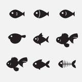 Ícone dos peixes Imagens de Stock