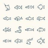 Ícone dos peixes ilustração royalty free