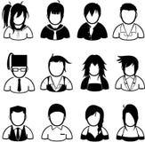 ícone dos povos Imagens de Stock