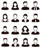 Ícone dos povos imagem de stock