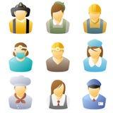 Ícone dos povos: As ocupações ajustaram 4 Imagens de Stock Royalty Free
