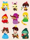 Ícone dos povos da história dos desenhos animados Imagens de Stock Royalty Free