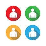 Ícone dos povos Ícone do sinal do usuário Ilustração do vetor, projeto liso jogo ilustração do vetor