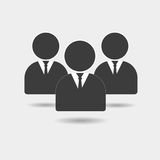 Ícone dos povos Grupo de sinal dos seres humanos Símbolo do trabalho da equipe Fotos de Stock