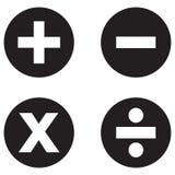 Ícone dos símbolos da matemática Fotografia de Stock Royalty Free