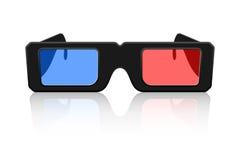 ícone dos vidros 3D Imagens de Stock