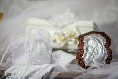 Ícone e acessórios da bênção do casamento Imagens de Stock Royalty Free