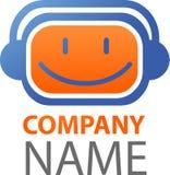 Ícone e logotipo da música/DJ Fotos de Stock Royalty Free