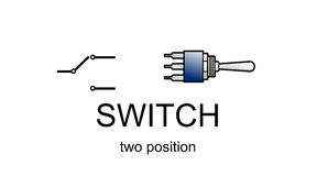 Ícone e símbolo do interruptor de posição dois Foto de Stock Royalty Free