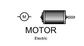 Ícone e símbolo do motor elétrico Imagens de Stock