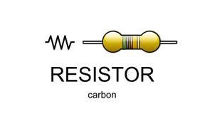 Ícone e símbolo do resistor de carbono Imagem de Stock