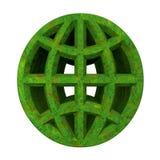 Ícone ecológico do globo fotografia de stock