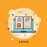 Ícone eletrônico do livro, conceito digital da leitura ilustração royalty free
