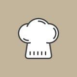 Ícone enchido chapéu do esboço do cozinheiro chefe Imagem de Stock Royalty Free