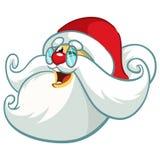 Ícone engraçado da cabeça de Santa Claus Desenhos animados do vetor Foto de Stock