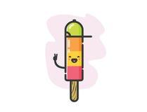 Ícone engraçado do gelado do fruto do vetor multi Foto de Stock Royalty Free