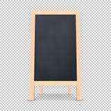 Ícone especial realístico da placa do anúncio do menu Fundo exterior do quadro-negro do restaurante limpo do vetor Modelo de ilustração stock