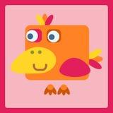 Ícone estilizado dos desenhos animados do pássaro Imagens de Stock Royalty Free
