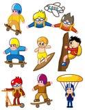 Ícone extremo do esporte dos desenhos animados Imagem de Stock Royalty Free