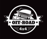 Ícone extremo fora de estrada do vetor do clube da aventura do carro 4x4 ilustração do vetor