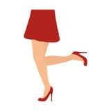 Ícone fêmea dos pés Projeto do corpo humano Gráfico de vetor Fotografia de Stock