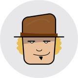 Ícone - face Imagens de Stock Royalty Free