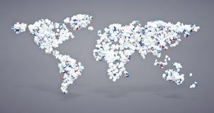 Ícone farmacêutico do mundo Imagens de Stock