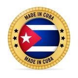 Ícone feito em Cuba ilustração royalty free