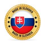 Ícone feito em Eslováquia ilustração stock