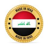 Ícone feito em Iraque ilustração stock