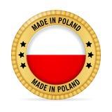 Ícone feito no Polônia ilustração do vetor