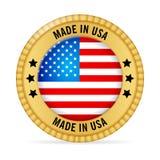 Ícone feito nos EUA ilustração stock