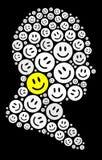 Ícone feliz Fotos de Stock