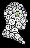 Ícone feliz Imagem de Stock Royalty Free