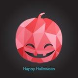 Ícone feliz de Halloween Ilustração do vetor Fotografia de Stock Royalty Free