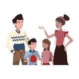ícone feliz dos desenhos animados da família Foto de Stock