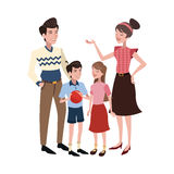 ícone feliz dos desenhos animados da família Fotos de Stock Royalty Free