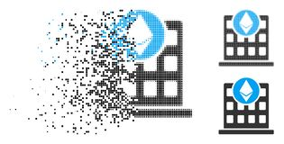 Ícone fraturado de Dot Halftone Ethereum Corporation Office ilustração do vetor