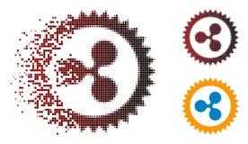 Ícone fraturado de Dot Halftone Ripple Insignia Stamp ilustração royalty free