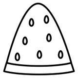 Ícone fresco da fatia da parcela da melancia ilustração do vetor