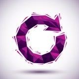 Ícone geométrico do reload violeta feito no estilo 3d moderno, melhor para u Fotos de Stock Royalty Free