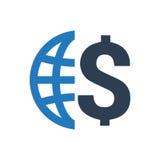 Ícone global da finança Imagens de Stock
