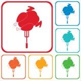 Ícone grelhado da galinha Foto de Stock Royalty Free